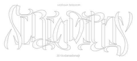 ambigram created by danadonajr2015
